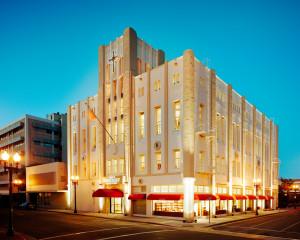 Budova Scientologické církve v Orange County v USA exterier